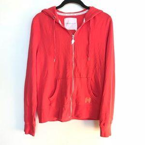 Victoria's Secret Coral Angel Wings Zip Sweatshirt